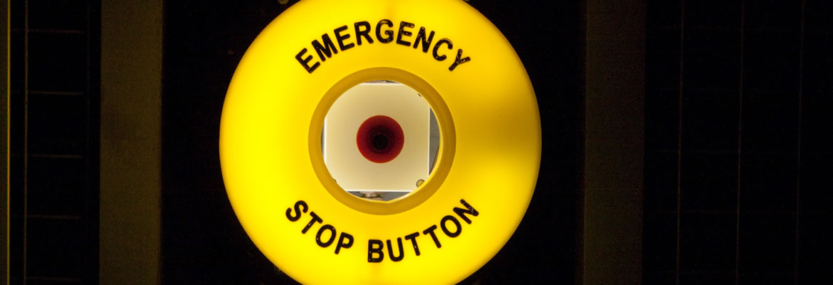 Emergency stop button fitted to a lorry by Dun-Bri Fit